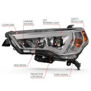Anzo USA - Anzo USA 111417 Projector Headlight Set - Image 3