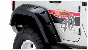 Exterior Accessories - Fender Flares - Bushwacker - Bushwacker 10044-02 Max Coverage Pocket Style Fender Flares