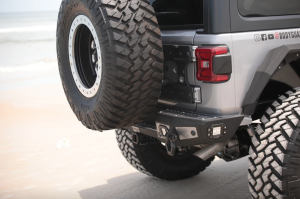 Jeep Bumpers - Bodyguard RX-Series - Bodyguard - Bodyguard 35181T Rear bumper Stubby without Sensor Holes with Light Holes Textured Black Jeep JL 2018-2020