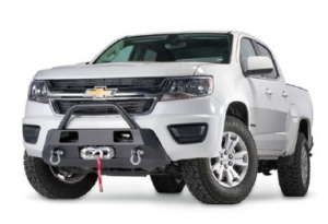 Shop Bumpers By Vehicle - Chevy Colorado - Warn - Warn 103210 Semi Hidden Winch Mount Bumper Chevy Colorado 2015-2020 (Not ZR2 or Bison)