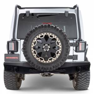 Jeep Bumpers - Go Rhino - Go Rhino - Go Rhino 371210T Rockline Full Width Rear Bumper Jeep Wrangler JK 2007-2018