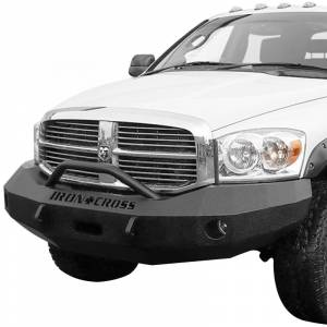 Iron Cross - Iron Cross 22-615-06-MB Winch Front Bumper with Push Bar for Dodge Ram 1500 2006-2008 - Matte Black - Image 2