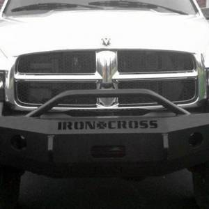 Iron Cross - Iron Cross 22-615-03-MB Winch Front Bumper with Push Bar for Dodge Ram 1500 2002-2005 - Matte Black - Image 2