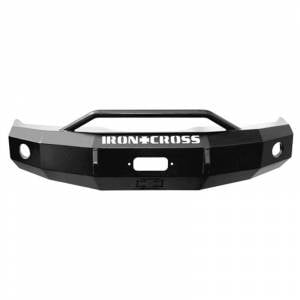 Ford F250/F350 Super Duty - Ford Superduty 2008-2010 - Iron Cross - Iron Cross 22-425-08 Winch Front Bumper with Push Bar for Ford F250/F350/F450 2008-2010 - Gloss Black