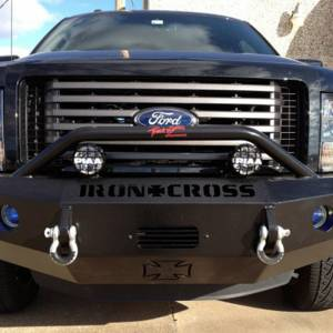 Iron Cross - Iron Cross 22-415-09 Winch Front Bumper with Push Bar for Ford F150 2009-2014 - Gloss Black - Image 7