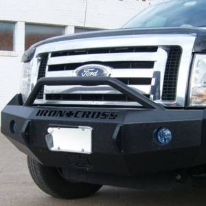 Iron Cross - Iron Cross 22-415-09 Winch Front Bumper with Push Bar for Ford F150 2009-2014 - Gloss Black - Image 9