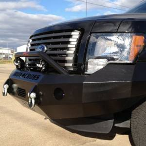 Iron Cross - Iron Cross 22-415-09 Winch Front Bumper with Push Bar for Ford F150 2009-2014 - Gloss Black - Image 10