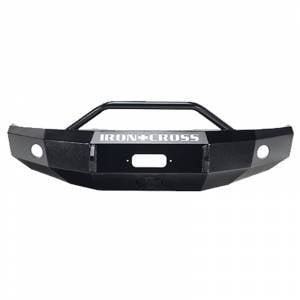Shop Bumpers By Vehicle - Ford F450/F550 Super Duty - Iron Cross - Iron Cross 22-425-11 Winch Front Bumper with Push Bar for Ford F250/F350/F450 2011-2016 - Gloss Black