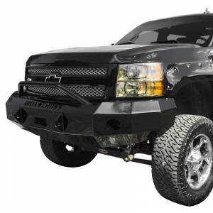 Iron Cross - Iron Cross 22-515-07 Winch Front Bumper with Push Bar for Chevy Silverado 1500 2007-2013 - Gloss Black - Image 2