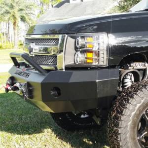 Iron Cross - Iron Cross 22-515-07 Winch Front Bumper with Push Bar for Chevy Silverado 1500 2007-2013 - Gloss Black - Image 5