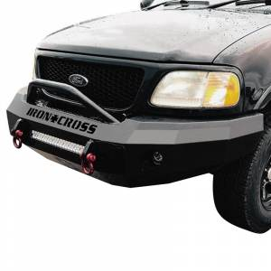 Iron Cross - Iron Cross 22-415-97 Winch Front Bumper with Push Bar for Ford F150 1997-2003 - Gloss Black - Image 2