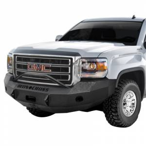 Iron Cross - Iron Cross 22-315-14 Winch Front Bumper with Push Bar for GMC Sierra 1500 2014-2015 - Gloss Black - Image 2