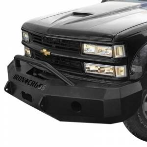 Iron Cross - Iron Cross 22-515-88 Winch Front Bumper with Push Bar for Chevy Silverado 1500/2500/3500 1988-1998 - Gloss Black - Image 2