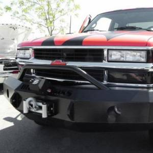 Iron Cross - Iron Cross 22-515-88 Winch Front Bumper with Push Bar for Chevy Silverado 1500/2500/3500 1988-1998 - Gloss Black - Image 4
