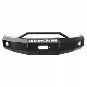 Iron Cross 22-315-07-MB Winch Front Bumper with Push Bar for GMC Sierra 1500 2007-2013 - Matte Black