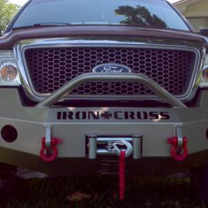 Iron Cross - Iron Cross 22-415-04-MB Winch Front Bumper with Push Bar for Ford F150 2004-2008 - Matte Black - Image 3