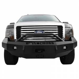 Iron Cross - Iron Cross 22-415-09-MB Winch Front Bumper with Push Bar for Ford F150 2009-2014 - Matte Black - Image 2
