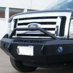 Iron Cross - Iron Cross 22-415-09-MB Winch Front Bumper with Push Bar for Ford F150 2009-2014 - Matte Black - Image 9