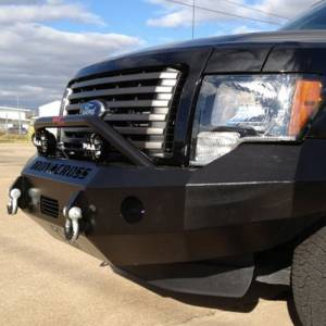 Iron Cross - Iron Cross 22-415-09-MB Winch Front Bumper with Push Bar for Ford F150 2009-2014 - Matte Black - Image 10