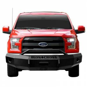 Iron Cross - Iron Cross 22-415-15-MB Winch Front Bumper with Push Bar for Ford F150 2015-2017 - Matte Black - Image 2