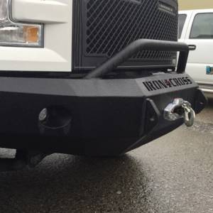 Iron Cross - Iron Cross 22-415-15-MB Winch Front Bumper with Push Bar for Ford F150 2015-2017 - Matte Black - Image 3