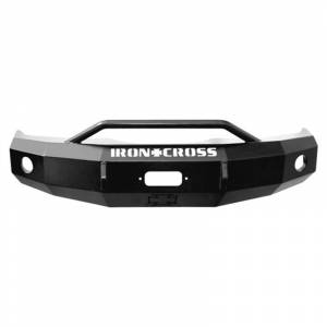 Ford F250/F350 Super Duty - Ford Superduty 2005-2007 - Iron Cross - Iron Cross 22-425-05-MB Winch Front Bumper with Push Bar for Ford F250/F350/F450 2005-2007 - Matte Black