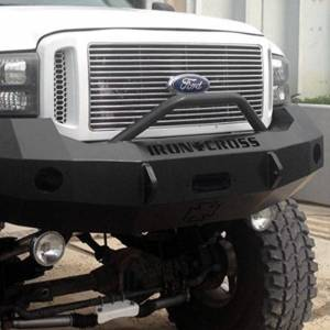 Iron Cross - Iron Cross 22-425-05-MB Winch Front Bumper with Push Bar for Ford F250/F350/F450 2005-2007 - Matte Black - Image 4