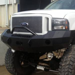 Iron Cross - Iron Cross 22-425-05-MB Winch Front Bumper with Push Bar for Ford F250/F350/F450 2005-2007 - Matte Black - Image 6