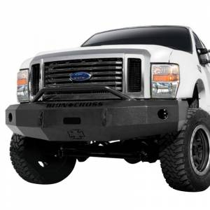 Iron Cross - Iron Cross 22-425-08-MB Winch Front Bumper with Push Bar for Ford F250/F350/F450 2008-2010 - Matte Black - Image 2