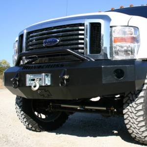Iron Cross - Iron Cross 22-425-08-MB Winch Front Bumper with Push Bar for Ford F250/F350/F450 2008-2010 - Matte Black - Image 4