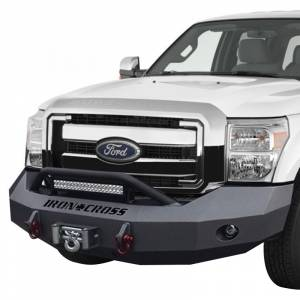 Iron Cross - Iron Cross 22-425-17-MB Winch Front Bumper with Push Bar for Ford F250/F350/450 2017-2019 - Matte Black - Image 2