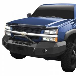 Iron Cross - Iron Cross 22-515-03-MB Winch Front Bumper with Push Bar for Chevy Silverado 1500 2003-2006 - Matte Black - Image 2