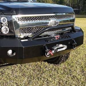Iron Cross - Iron Cross 22-515-07-MB Winch Front Bumper with Push Bar for Chevy Silverado 1500 2007-2013 - Matte Black - Image 3
