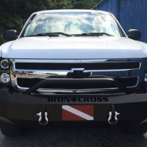 Iron Cross - Iron Cross 22-515-07-MB Winch Front Bumper with Push Bar for Chevy Silverado 1500 2007-2013 - Matte Black - Image 6
