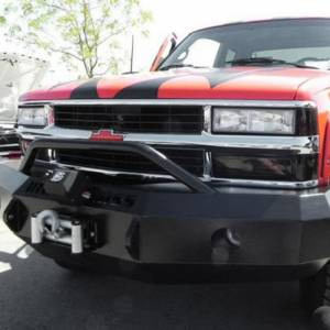 Iron Cross - Iron Cross 22-515-88-MB Winch Front Bumper with Push Bar for Chevy Silverado 1500/2500/3500 1988-1998 - Matte Black - Image 4