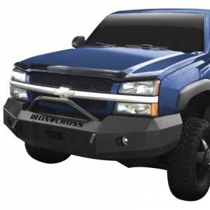 Iron Cross - Iron Cross 22-525-03-MB Winch Front Bumper with Push Bar for Chevy Silverado 2500/3500 2003-2006 - Matte Black - Image 2
