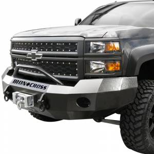 Iron Cross - Iron Cross 22-525-11-MB Winch Front Bumper with Push Bar for Chevy Silverado 2500/3500 2011-2014 - Matte Black - Image 2