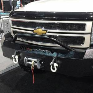 Iron Cross - Iron Cross 22-525-11-MB Winch Front Bumper with Push Bar for Chevy Silverado 2500/3500 2011-2014 - Matte Black - Image 4