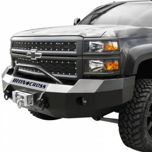 Iron Cross - Iron Cross 22-525-15-MB Winch Front Bumper with Push Bar for Chevy Silverado 2500/3500 2015-2019 - Matte Black - Image 2