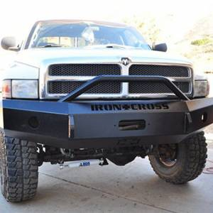 Iron Cross - Iron Cross 22-615-97-MB Winch Front Bumper with Push Bar for Dodge Ram 1500 1997-2001 - Matte Black - Image 6