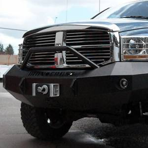 Iron Cross - Iron Cross 22-625-06-MB Winch Front Bumper with Push Bar for Dodge Ram 2500/3500 2006-2009 - Matte Black - Image 4