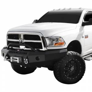 Iron Cross - Iron Cross 22-625-10-MB Winch Front Bumper with Push Bar for Dodge Ram 2500/3500 2010-2018 - Matte Black - Image 2