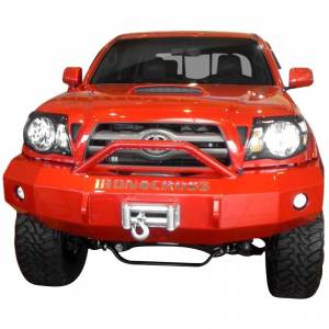 Iron Cross - Iron Cross 22-705-07-MB Winch Front Bumper with Push Bar for Toyota Tacoma 2005-2011 - Matte Black - Image 2