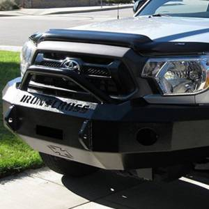 Iron Cross - Iron Cross 22-705-12-MB Winch Front Bumper with Push Bar for Toyota Tacoma 2012-2015 - Matte Black - Image 3