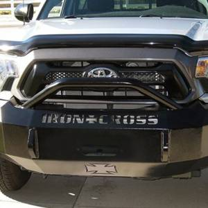 Iron Cross - Iron Cross 22-705-12-MB Winch Front Bumper with Push Bar for Toyota Tacoma 2012-2015 - Matte Black - Image 4