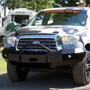 Iron Cross - Iron Cross 22-715-07-MB Winch Front Bumper with Push Bar for Toyota Tundra 2007-2013 - Matte Black - Image 2