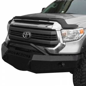 Iron Cross - Iron Cross 22-715-14-MB Winch Front Bumper with Push Bar for Toyota Tundra 2014-2018 - Matte Black - Image 2