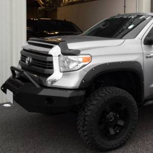 Iron Cross - Iron Cross 22-715-14-MB Winch Front Bumper with Push Bar for Toyota Tundra 2014-2018 - Matte Black - Image 3