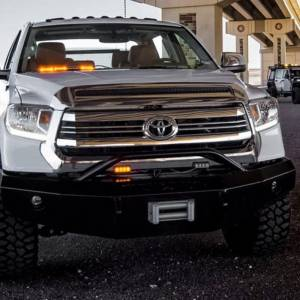 Iron Cross - Iron Cross 22-715-14-MB Winch Front Bumper with Push Bar for Toyota Tundra 2014-2018 - Matte Black - Image 4