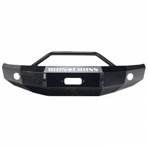 Iron Cross - Iron Cross 22-915-04-MB Winch Front Bumper with Push Bar for Nissan Titan 2004-2015 - Matte Black - Image 1